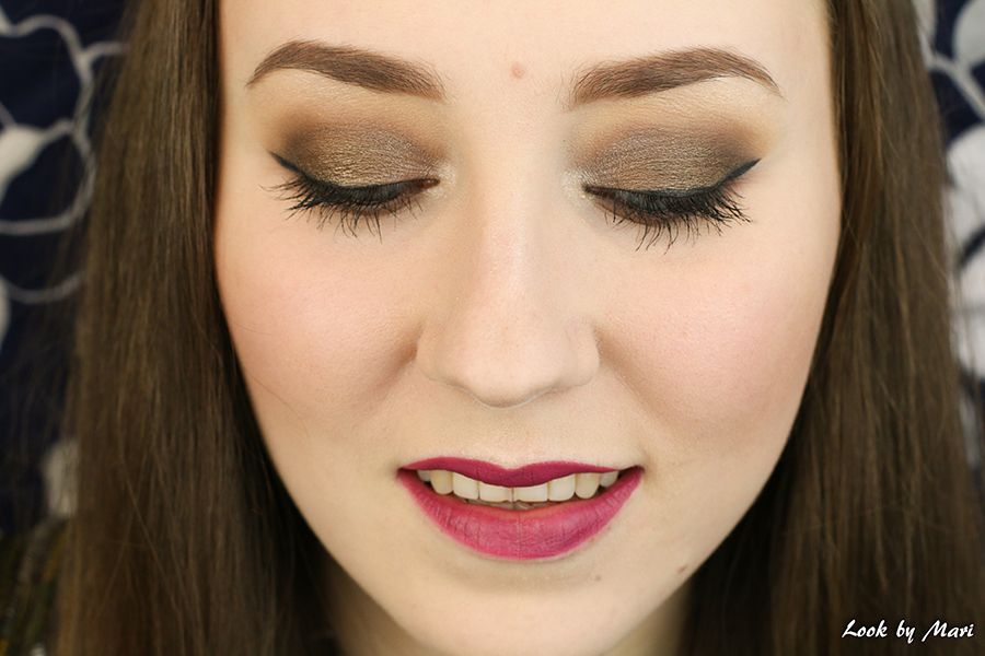 2 brown eye makeup for fall mauve lips
