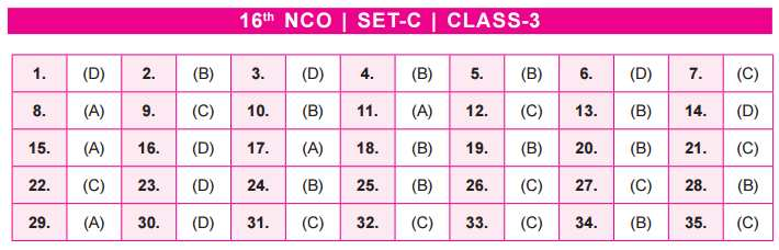 NCO Answer Keys class 3