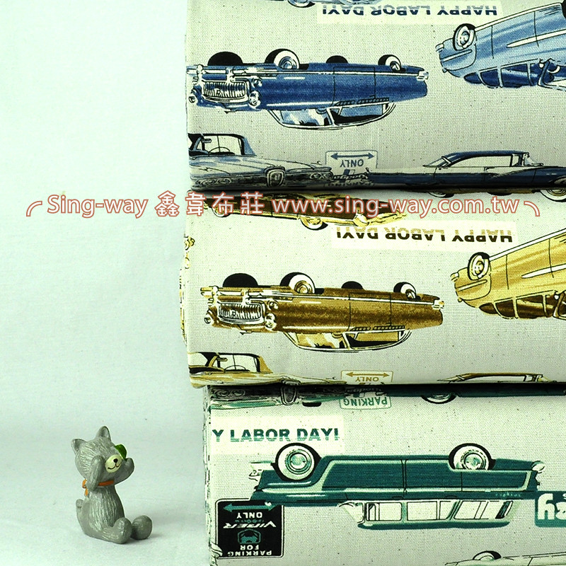 復古車 交通工具 汽車 手工藝DIy拼布布料 CF550525