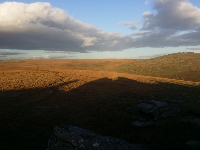 Two shadows on the top of Roos Tor