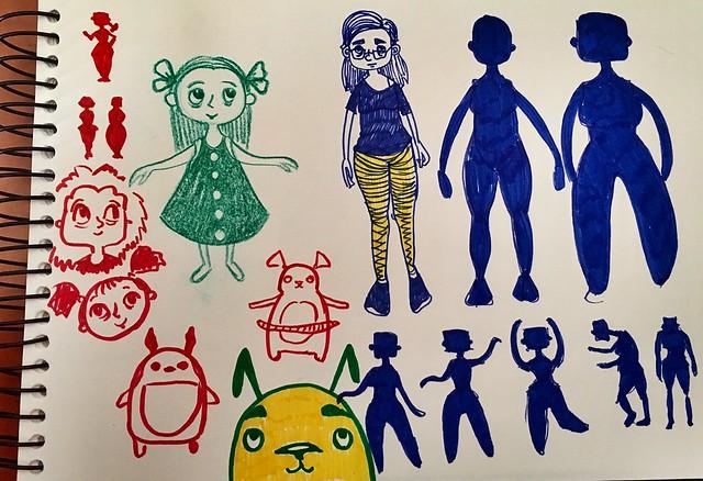 Char design doodles