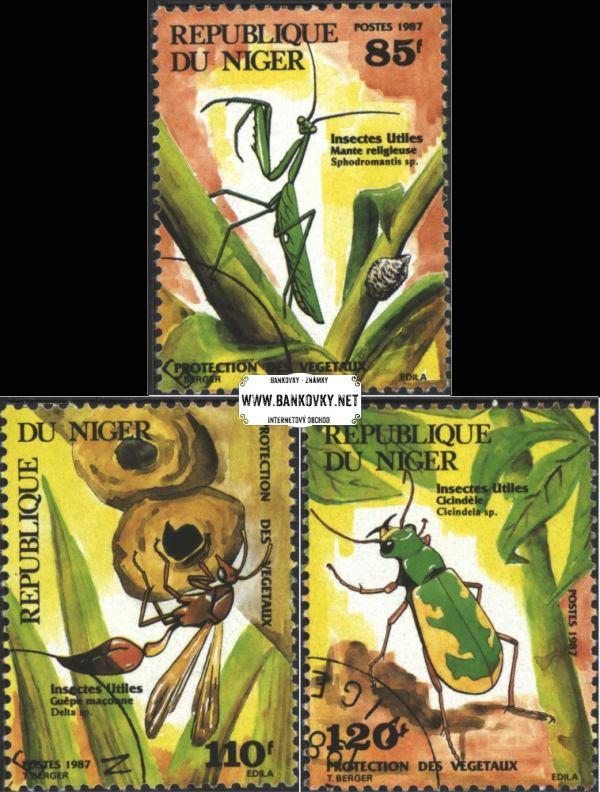 Známky Niger 1987 Užitočný hmyz, razítkovaná séria