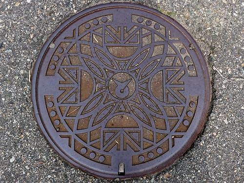 Tonami Toyama, manhole cover 3 (富山県砺波市のマンホール3)