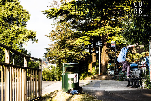 how to jump up a curb on a skateboard