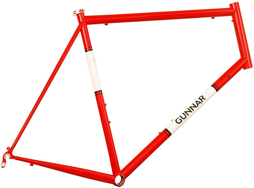 Gunnar Roadie in Gunnar Red with White Panels | by Gunnar Cycles