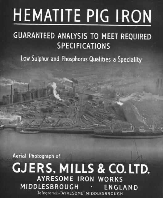 Gjers Mills & Co, Ayresome Ironworks 1949