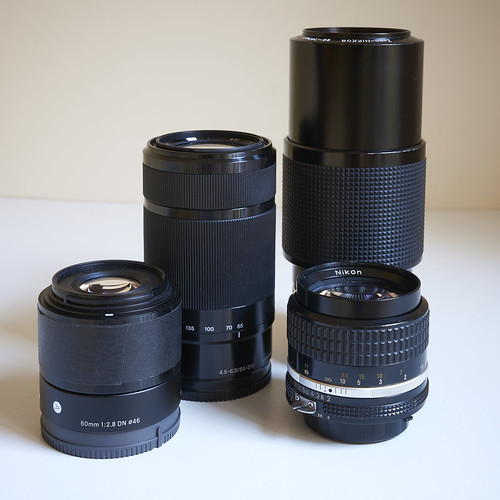 Comparison - Sigma, Sony, Nikon lenses 60mm to 210mm