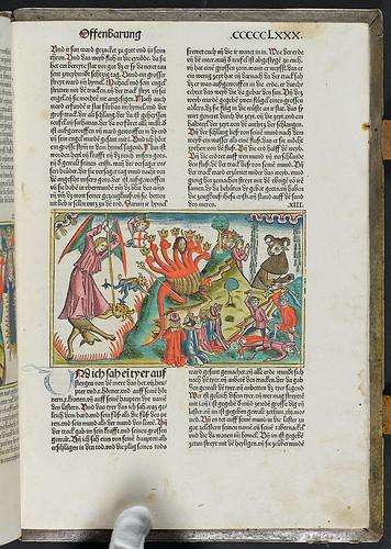 Biblia [German] - Hand coloured illustration