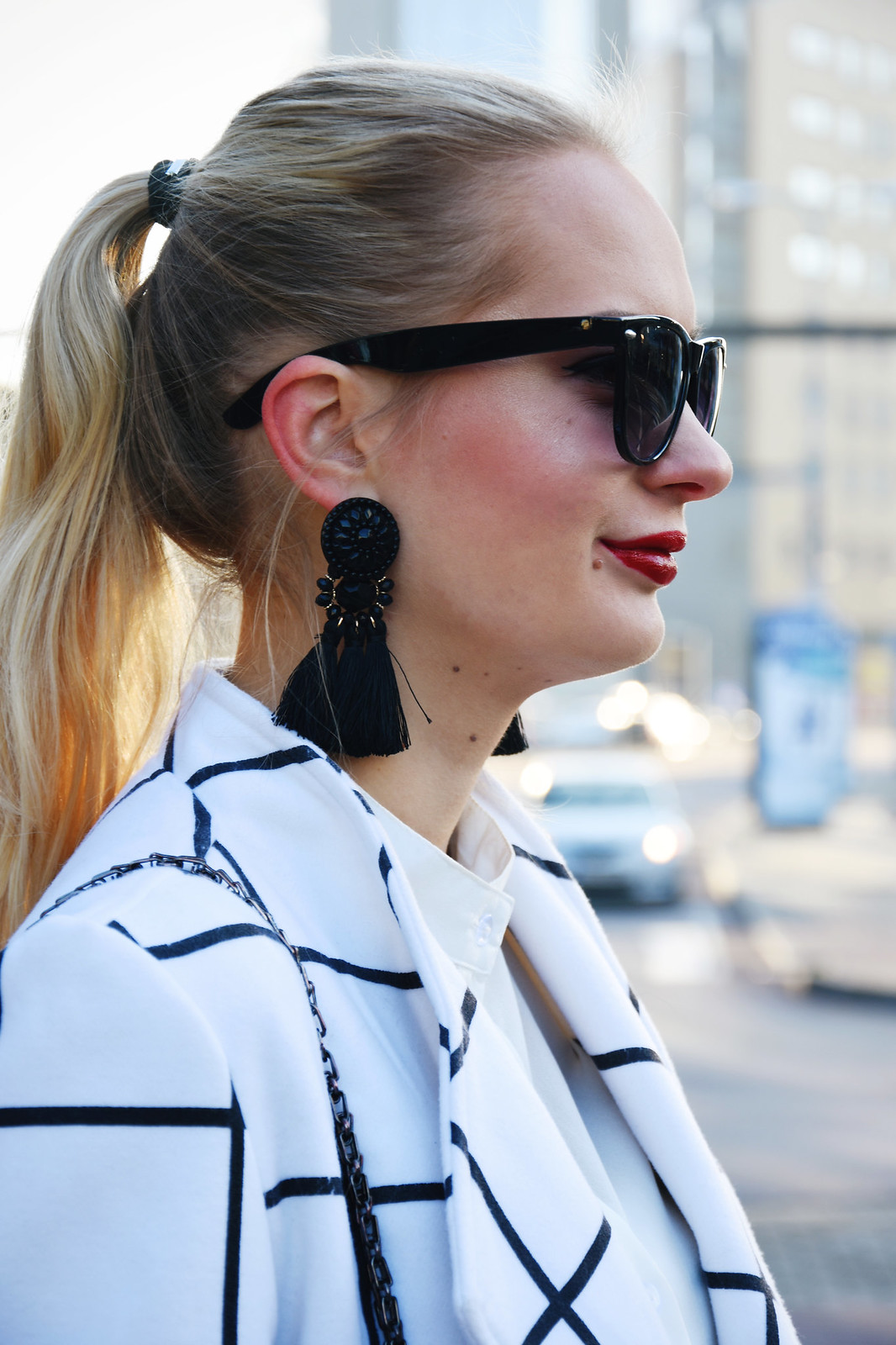 Styling tassel earrings