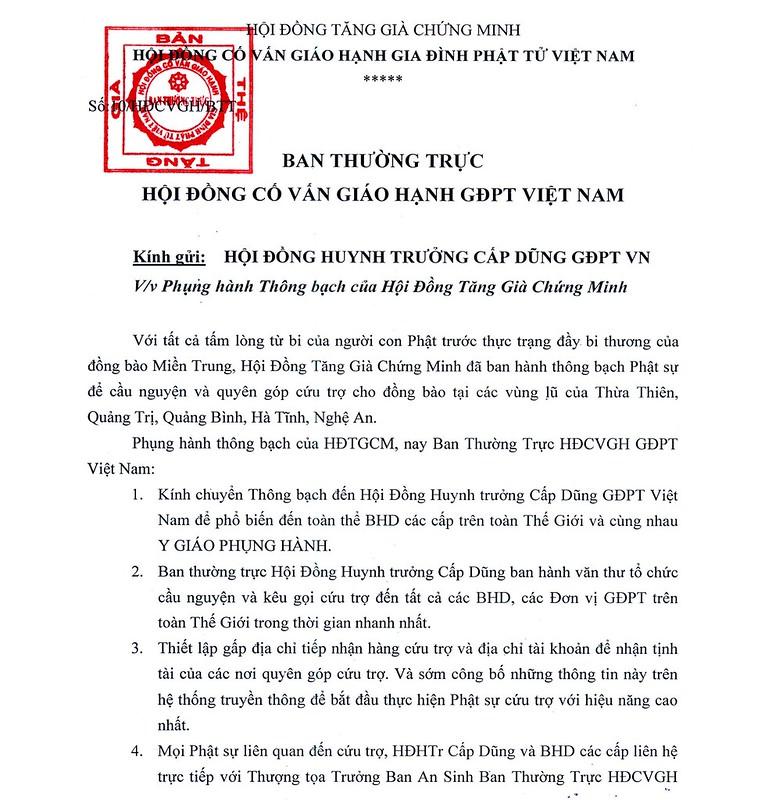 THONG TU CUA HDCVGH GDPTVN 1