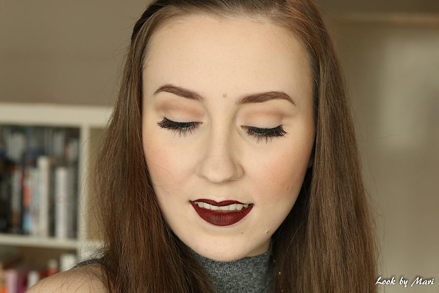 4 Morphe Brushes #213 false lashes makeup look