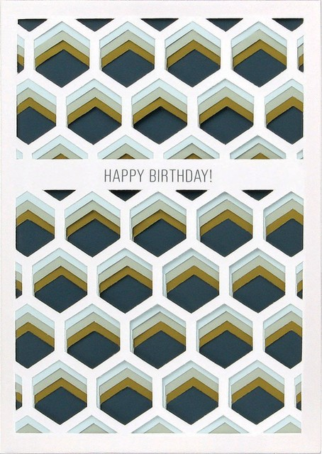 UWP Luxe Happy Birthday Layers Card