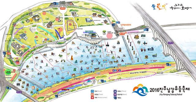 Jinju Festival Map