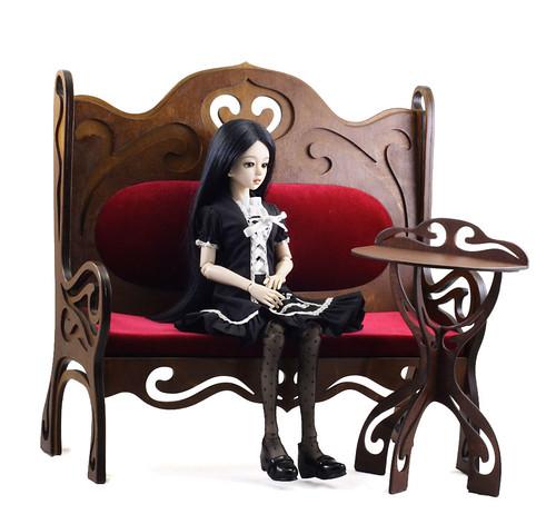 Sofa Art Nouveau m02 msd &Mayi (msd)