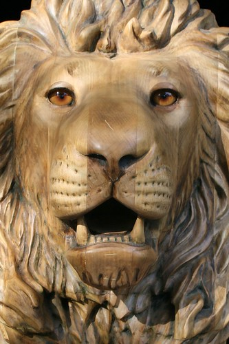Really close lion carved by m j y artistsconk flickr