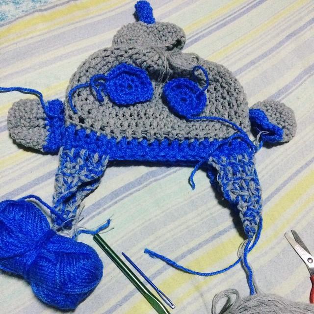 Robot Crochet Beanie