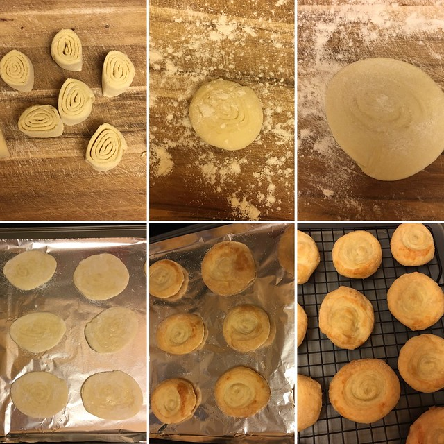 Step by step preparation of fine biscuits