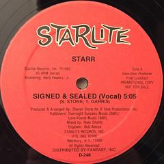 STARR:SIGNED & SEALED(LABEL SIDE-A)