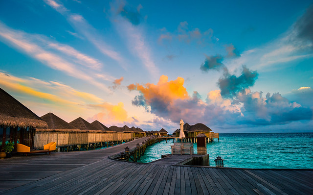 Maldives in the morning (Constance Halaveli Resort & Spa)