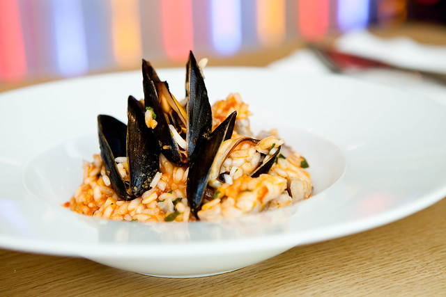 Slávky s rizottem / Mussels with risotto