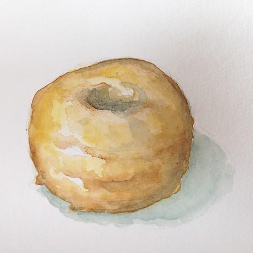 Donut 5, watercolor