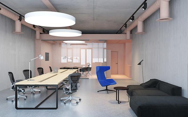 Pink office design in Ukraine by Emil Dervish Sundeno_07