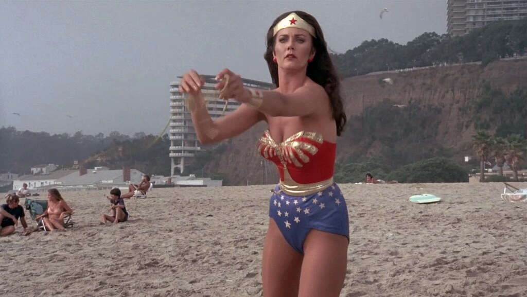 Apologise, but, Sexy beach wonder women me!