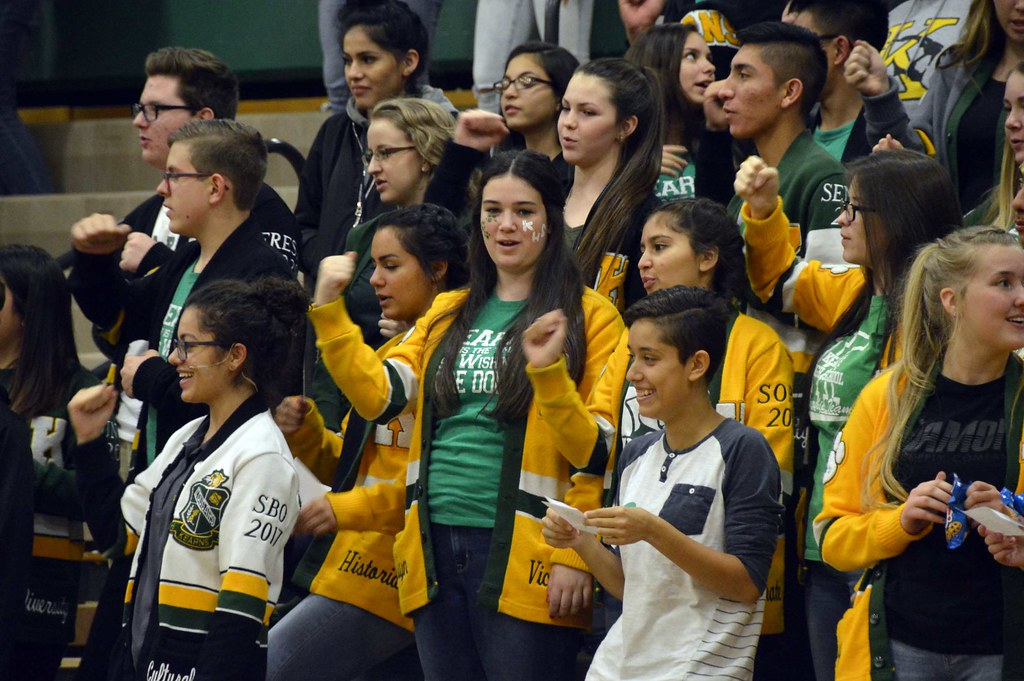 Kearns High students sing the school fight song