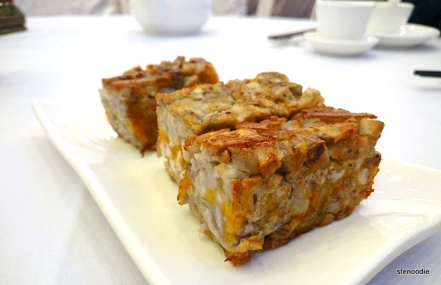 Baked taro squares