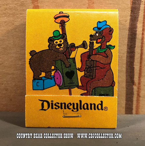 Vintage 1970s Disneyland Country Bear Jamboree Matchbook - Country Bear Jamboree Collector Show #78