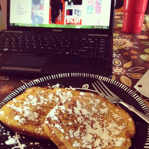 Pumpkin pie French toast & early black Friday shopping - yes please!