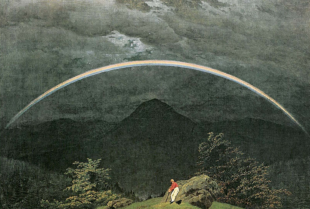 Mountain Landscape with Rainbow (1809–10) by Caspar David Friedrich