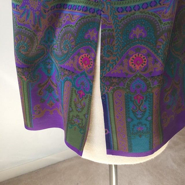 purple silk top side vent