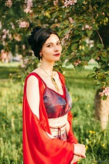 Russian cosplayer Anya dressed up as Inara from Firefly