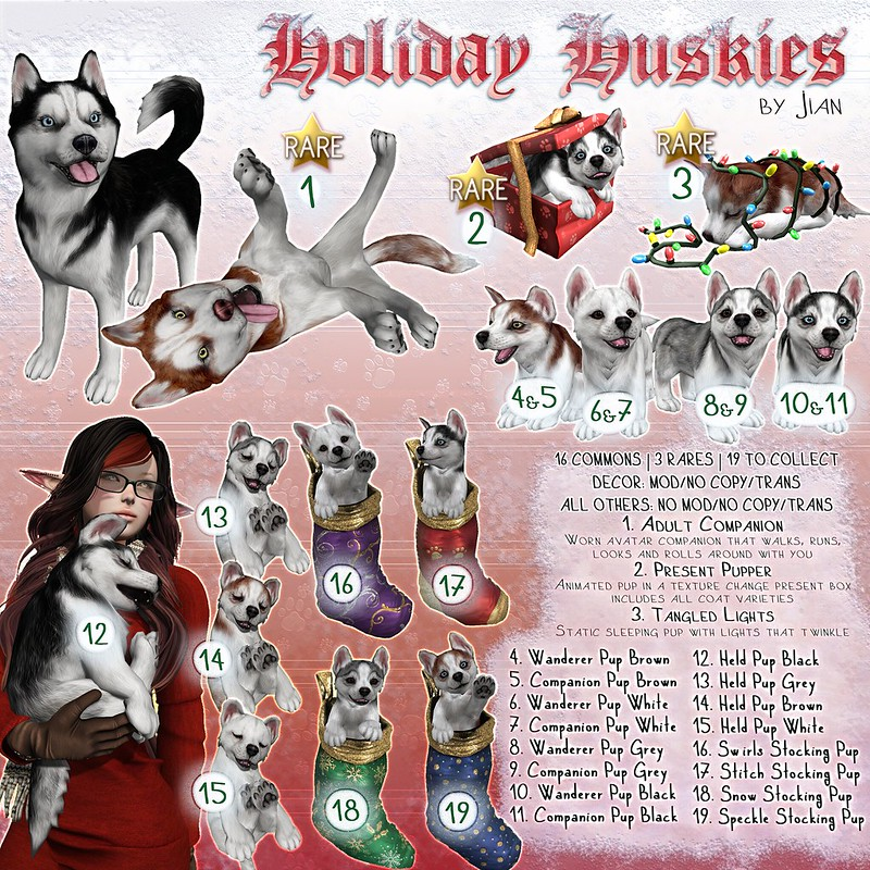 Holiday Huskies @ The Arcade December 2016