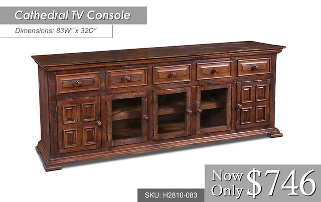 h2810-083-Cathedral 83W x 32 TV Console $746