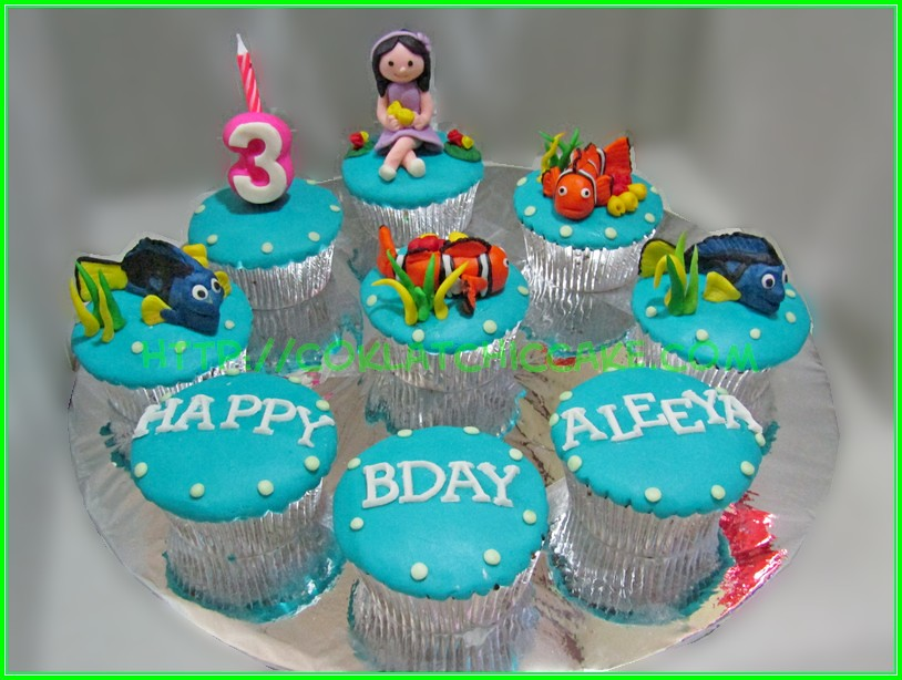 Cupcake set Nemo Dory