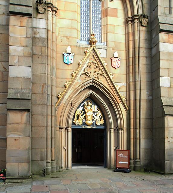 Cathedral entrance, Blackburn