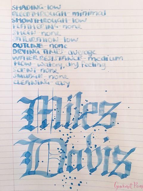 Ink Shot Review Montblanc Miles Davis Jazz Blue @couronneducomte 8