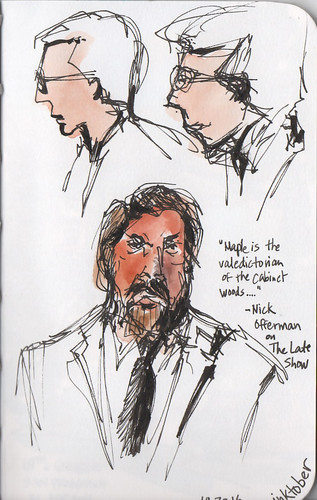 Sketching from The Late Show