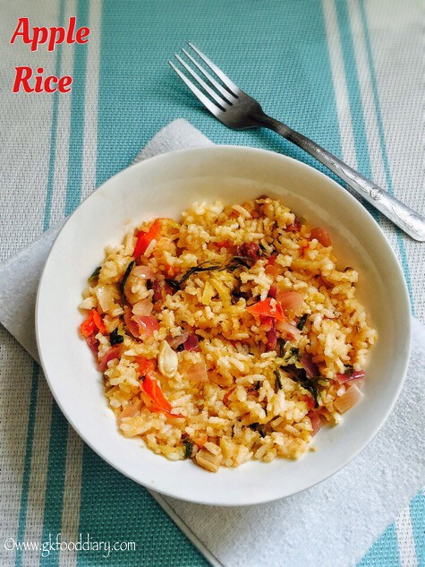 Apple Rice Recipe for Toddlers and Kids4