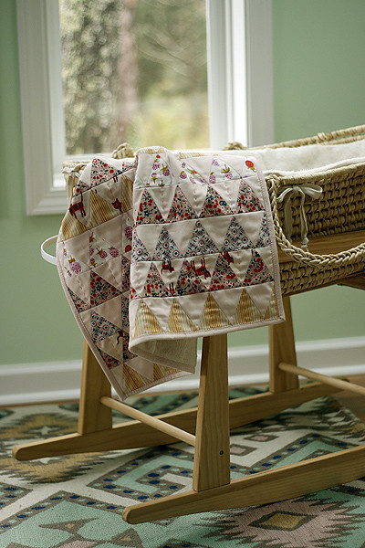 Sherpa Flora baby blanket