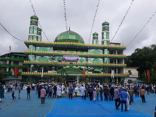 Eid-ul-Fitr namaz in Madina Masjid (Glass Mosque), Shillong