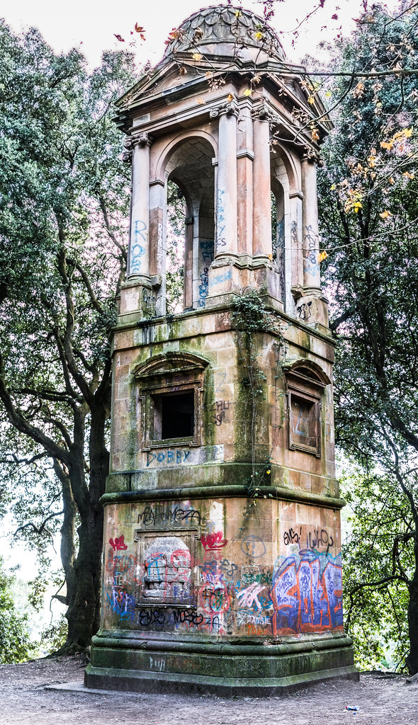 POSSIBLY THE BEST FOLLY [ROMAN STYLE TOWER ON A HILL IN ST. ANNES PARK]-122924