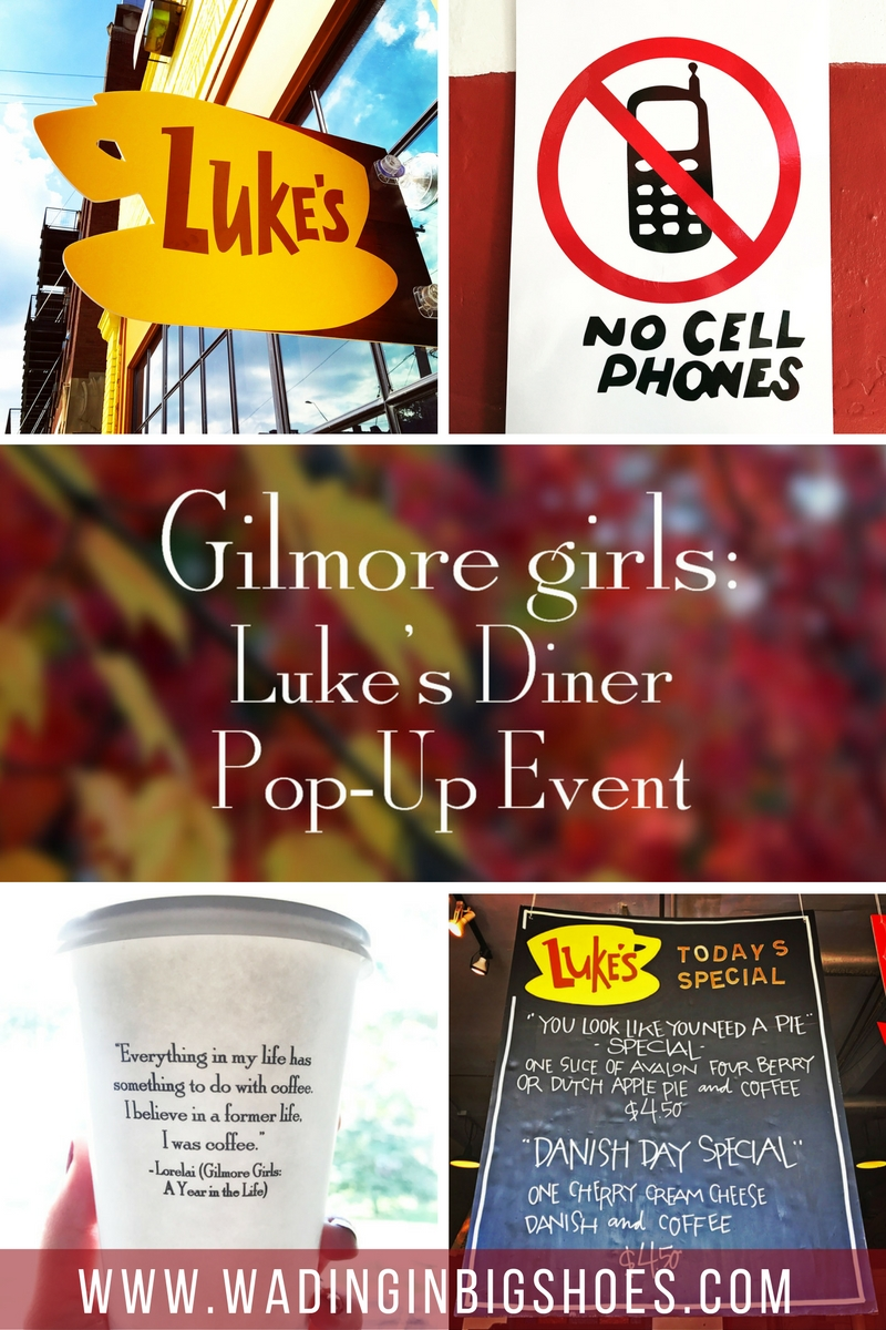 Wading in Big Shoes - Gilmore Girls Revival: Luke's Diner Pop-Up In Detroit // See photos from the Luke's Diner-inspired pop-up event at Avalon International Breads in Detroit, Michigan! Gilmore Girls themed signage, coffee cups, lots of flannel and more. Remember to watch Gilmore Girls: A Year in the Life on Netflix starting November 25, 2016!