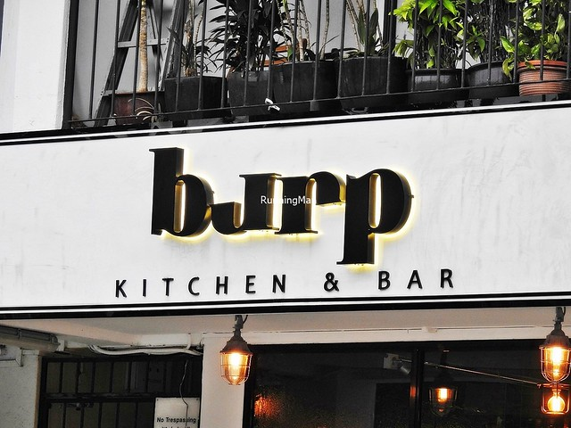 Burp Kitchen & Bar Signage