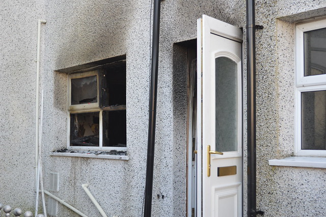 Arson in Easington Colliery