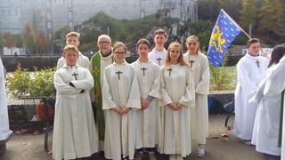 Pélé servants d'autel Lourdes 2016
