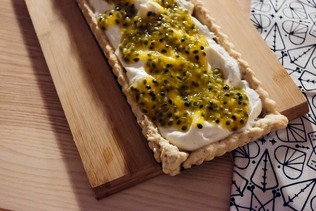 unser weihnachtsmenü 2016: ricotta-tarte mit passionsfrucht