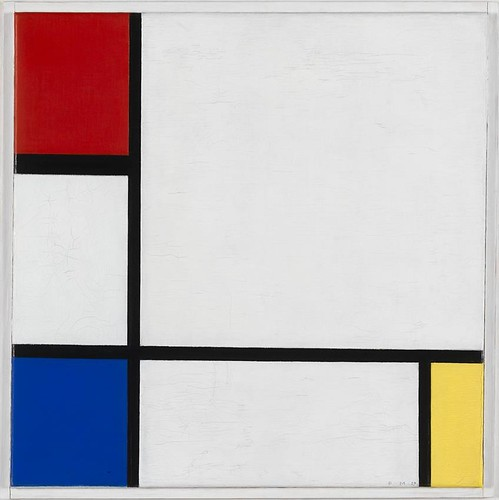 13. Mondriaan, composition No. IV, with Red, Blue and Yellow